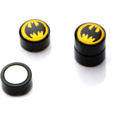 batman earrings officially licensed dc comics jewelry acrylic magnetic non
