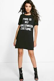 emily halloween costume tshirt dress boohoo
