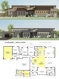 Homeplans Calmly Luxury Courtyard Houseplan Custom Courtyard Luxury House