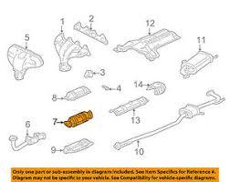 2003 honda accord catalytic converter honda oem 98 02 accord 2 3l l4 catalytic converter 18160paa305 ebay