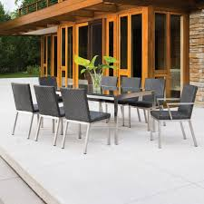 Outdoor Wicker Dining Set Lloyd Flanders Elements Wicker 9 Piece Patio Dining Set Lf