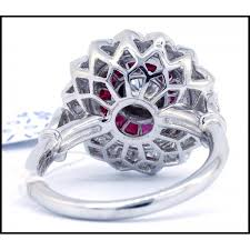 antique design rings images 0 24 carats diamond ruby antique ring 18k white gold round design jpg