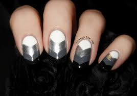 grey black and white nail designs gray nails with black and white