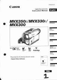 canon camcorder mvx 330 i user guide manualsonline com
