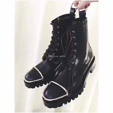 womens motorcycle boots size 11 s combat boots 2018 fall winter black flats ankle womens