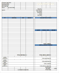 9 work invoice template free sample example format download