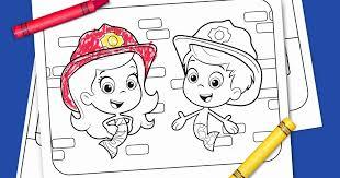 fire truck heroes printable coloring pack nickelodeon parents