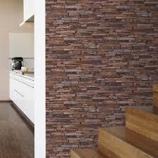 papier peint intissé pour cuisine papier peint intissé pierres plates multicouleur leroy merlin
