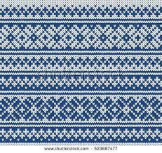 fair isle fairisle jacquard seamless knitting pattern stock vector 523687477