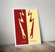 flash reverse flash minimalist poster 8x10 11x14 11x17