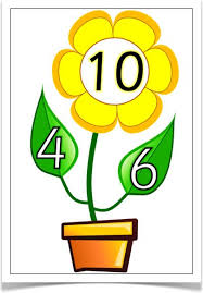 number bonds to 10 plants treetop displays with a prompting