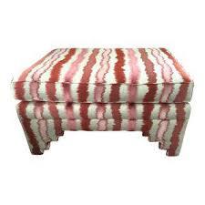 vintage u0026 used white ottomans and footstools chairish