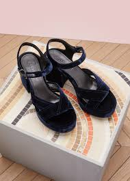 velvet high heels sandals jil sander 24 sèvres