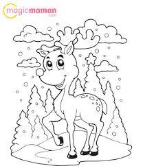 le renne du père noël en coloriage à imprimer magicmaman com