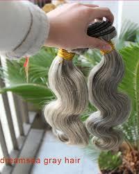 ladies hair pieces for gray hair grey hair mixed black hair natural hair wefts for old woman gray