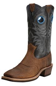 womens cowboy boots size 12 wide ariat s heritage roughstock cowboy boots earth black