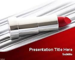 lipstick powerpoint template new free powerpoint