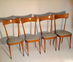 a set of 4 ico paris style dining chairs italy 1950 u2013 judith