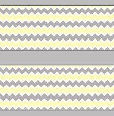 yellow grey gray chevron wallpaper border wall decal baby