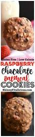 raspberry chocolate oatmeal cookies gf low cal skinny fitalicious