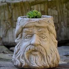 wizard flower pot garden ornament cast planter onefold