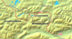 Garmisch Germany Map mittenwald railway wikipedia