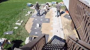 Paver Patio Installation by Unilock Paver Patio Installation Time Lapse Youtube