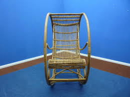 Cane Rocking Chairs For Sale Rattan U0026 Wicker Rocking Chair 1960s For Sale At Pamono