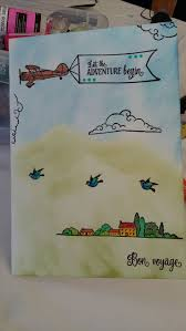 304 best card craft images on pinterest card crafts cards and girls travelling stamped using creative stamping set october 2016 for my niece travelling to australia maybe the plane should have been flying upside down