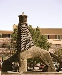 lion of judah statue historic le gare railway station addis ababa cityseeker
