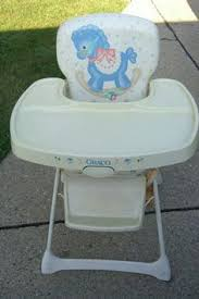 How To Fold A Graco High Chair Vintage Metal Folding High Chair With Vinyl Seat U0026 Plastic Tray