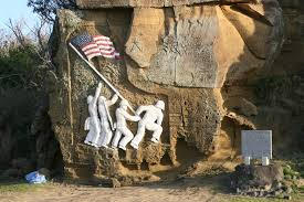 Famous Picture Of Soldiers Putting Up Flag Iwo Jima Tour War In The Pacific