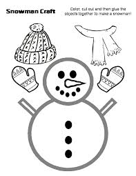 preschool crafts for kids snowman with hat and scarf craft