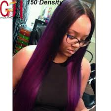black hair weave part in the middle brazilian human hair middle part ombre full lace wig straight