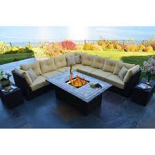South Beach Sofa Outdoor Innovation South Beach 12 Piece Fire Pit Seating Group