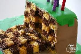 mindcraft cake checkered birthday cake dirt block minecraft cake finding feasts