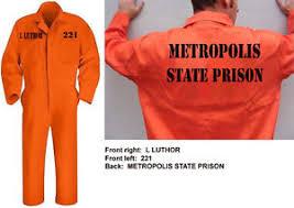 Prison Jumpsuit Lex Luthor Metropolis State Prison Jumpsuit Cosplay Halloween