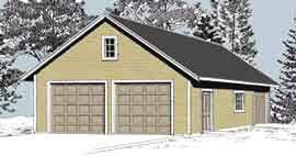 two car garage garage plans two car garage with shop and attic roof plan 975 5