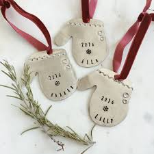 personalized hand stamped vintage bulb christmas ornament