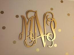 gold monogram monogram letters for wall equalvote co
