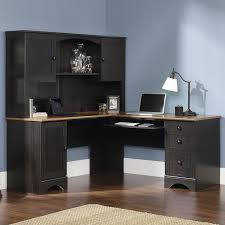 harbor view corner desk and hutch in antiqued black nebraska