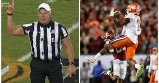 Ed Hochuli Meme - buff referee mike defee steals show as clemson tigers beat alabama