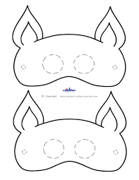 halloween mask printable templates hello kitty mask template virtren com