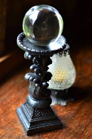 crystal ball stand sphere stand gothic decor wiccan decor