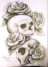 color skull candle tattoo design in 2017 real photo pictures