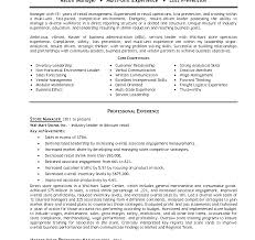 retail manager resume assistant manager installation repair modern retail resumes