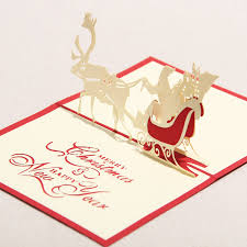 Merry Birthday Card 3d Greeting Card Handmade Paper Crafts Merry Christmas Happy