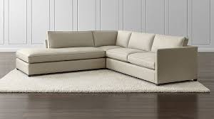 Crate And Barrel Lounge Sofa Review by Dryden 3 Piece Left Bumper Sectional Crate And Barrel
