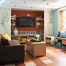 simple projects for a basement family room