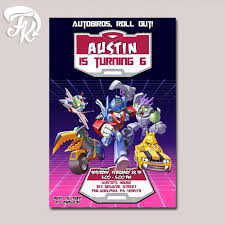 angry bird transformer birthday party card digital invitation